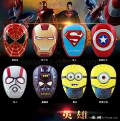 New Cartoon Avenger Iron Man Charger Po12000 mA Large Capacity Polymer