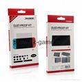 現貨Nintendo Switch鋼化膜套裝NS防塵塞套裝 Switch藍光高清膜 15