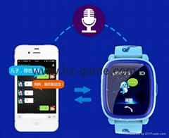 新款儿童防水智能手錶 觸摸屏通話求救遠程監控定位儿童電話手錶