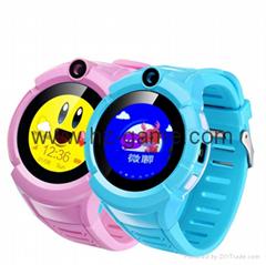 新款圓屏觸摸拍照手電筒儿童定位智能電話手錶