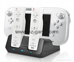廠家直銷新款WII U 二合一座充 遊戲機週邊配件