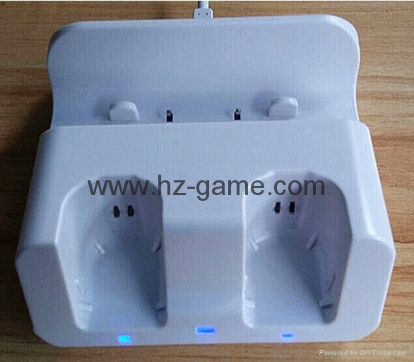 Controller Charging Dual Slots Dock Charger Cradle Station Battery forWii Game 6
