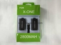 XBOXONE2800mAh triple battery pack XBOXONE battery handle rechargeable battery