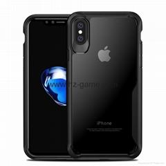 新款蘋果X手機殼全包硅膠亞克力透明防摔iPhonex手機保護套批發