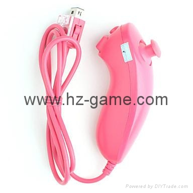 New NunchukGame Controller remote Game Handle for Nintendo Wii 4