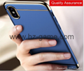 For iPhone X Case 3 in 1 Ultra Slim Case Luxury PC Hard Plating Phone Back Cover