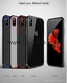 iPhone X Luxury Fashion Transparent TPU Soft plated Mobile Phone Back Shell