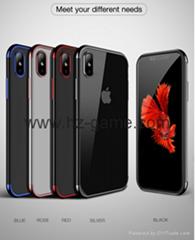原装手机壳为iPhone X豪华时尚透明TPU软镀手机后壳为iPhone X壳
