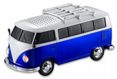 創意新奇禮品大巴車模插卡音箱公共汽車迷你音箱汽車收音音箱