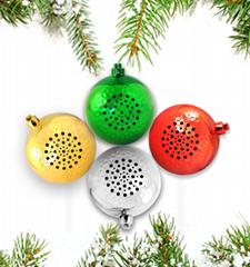 新款圣诞球蓝牙音箱 迷你便携小礼品音响 圣诞节礼物