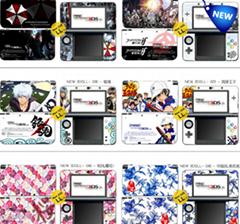 供應XNEW3DSLL新大三彩貼 手柄貼紙高端pvc貼紙 遊戲機保護膜