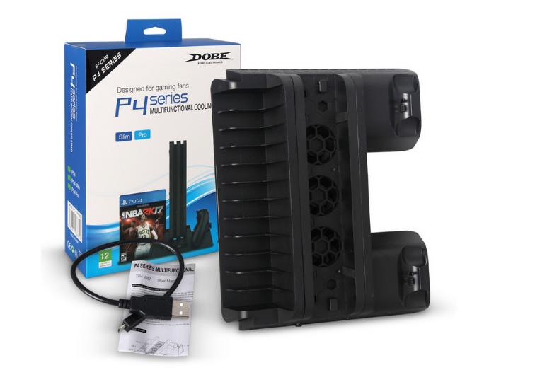 新款ps4pro散热座带HUB风扇(飞船外型)PS4 PRO风扇底座支架 8