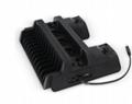 新款ps4pro散熱座帶HUB風扇(飛船外型)PS4 PRO風扇底座支架 11