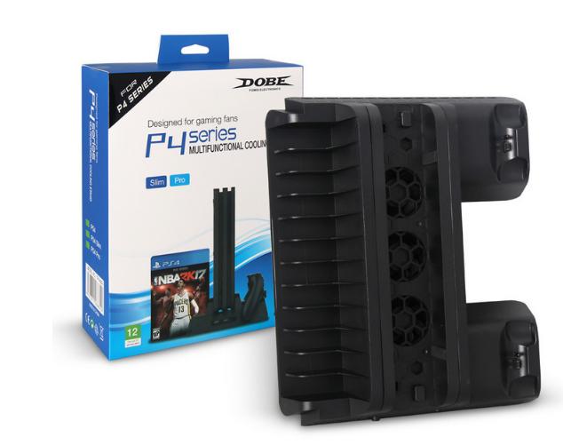 新款ps4pro散熱座帶HUB風扇(飛船外型)PS4 PRO風扇底座支架 13