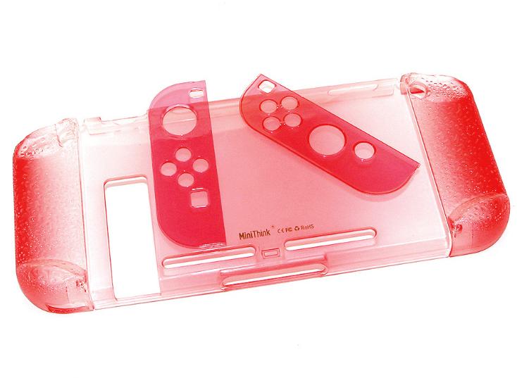 任天堂switch保護套透明水晶殼 NS手柄套分體主機外殼硬 NS配件 6