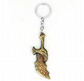 Game Around God Of War Ares Chaos Blade Weapon Model Alloy key chain pendan