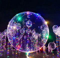 balloon wave balloon free Xenon LED glow colorful transparent wave ball wedding