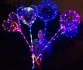 led helium balloon transparent 20 inch wave ball flash string balloon