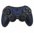 PS3 wireless 2.4G game controller PC P3dual vibration handle with receiver 2