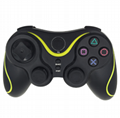 PS3 wireless 2.4G game controller PC P3dual vibration handle with receiver 7