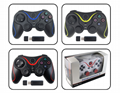 PS3 wireless 2.4G game controller PC P3dual vibration handle with receiver 1