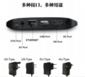 New quad-core HD wireless network set-top box Android TV box player 4K wifi