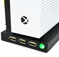 XBOX ONE S主机散热风扇 xboxone slim风扇支架 ONES主机支架风扇 3