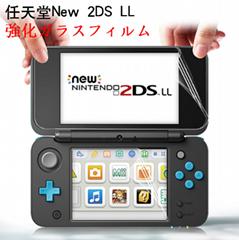 任天堂new2dsxl屏幕遊戲機全屏貼膜 高清防刮屏幕貼膜 2dsll保護