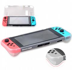 新品Nintendo switch遊戲主機水晶殼+藍膜 NS遊戲機保護盒套裝
