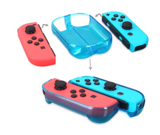 新品Nintendo switch游戏主机水晶壳+蓝膜 NS游戏机保护盒套装 3