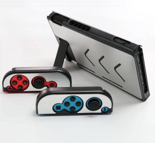 廠家直銷任天堂Switch金屬殼NS 主機手柄保護套 switch鋁殼 10