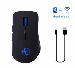 2018新款筆記本配件藍牙4.0&2.4G無聲雙模無線充電遊戲鼠標吃雞標