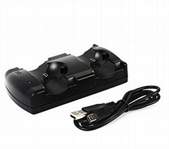 Wireless Chargers Dual USB Charging Dock Station Stand for Sony PS3 Gaming