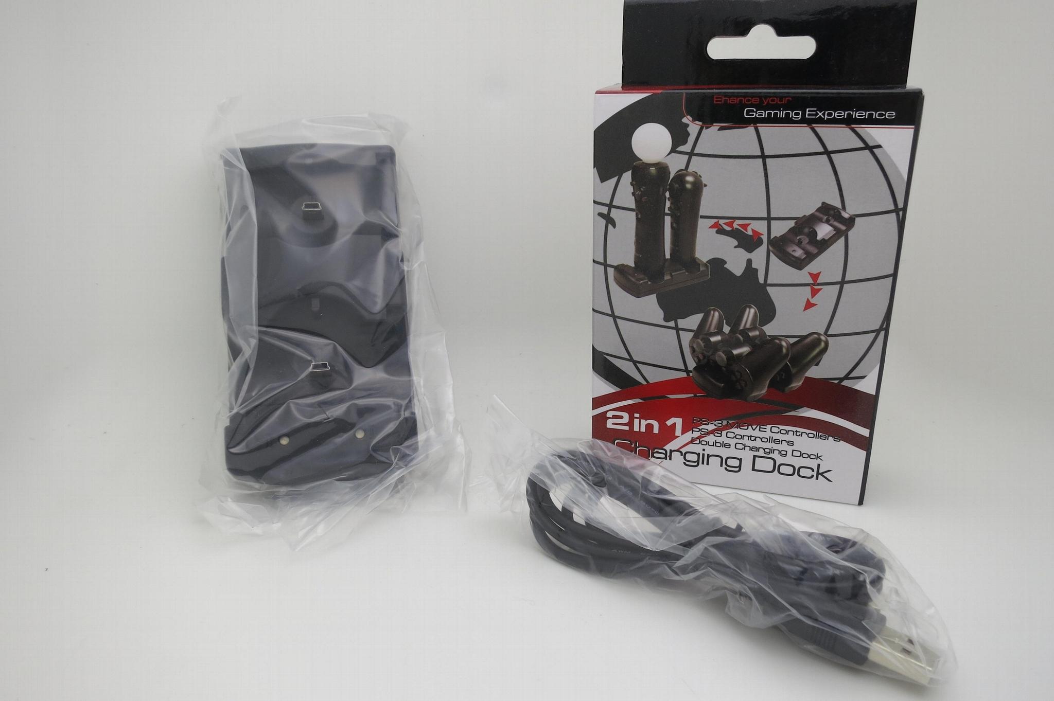 廠家直銷 三合一座充PS4 PS3 手柄PS3move充電器 手柄座充配件 8