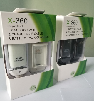 Xbox 360 Controller Battery 4800mAh Rechargeable Battery Pack+Charger Cable