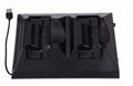 廠家直銷PS4SLIM手柄雙座充ps4slim無線手柄充電器TP4002S 3