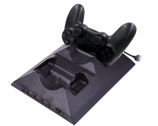 廠家直銷PS4SLIM手柄雙座充ps4slim無線手柄充電器TP4002S 1