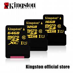 批发金士顿手机内存卡 TF卡 4G 8G 16G 32G 64G Micro SD卡 正品