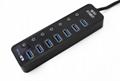 新款3.0 HUB接口 4in1 USB接口 ps4slimproxbox oneones通用 2