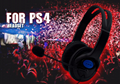 Wired Gaming Headset Earphones Headphones Mic Stereo Supper Bass for Sony PS4