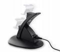 LED Dual USB Charging Cradle Docking StationGaming Controller PS4 Pro Slim 9