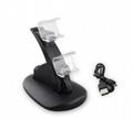 LED Dual USB Charging Cradle Docking StationGaming Controller PS4 Pro Slim 7