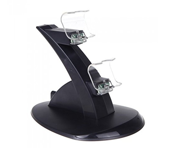 LED Dual USB Charging Cradle Docking StationGaming Controller PS4 Pro Slim 5