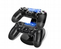 LED Dual USB Charging Cradle Docking StationGaming Controller PS4 Pro Slim 2