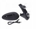 LED Dual USB Charging Cradle Docking StationGaming Controller PS4 Pro Slim 4