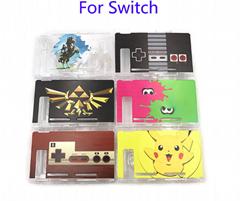 任天堂switch保护套透明水晶壳 NS手柄套分体主机外壳硬 NS配件