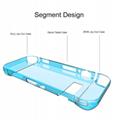 任天堂SWITCH主機硅膠保護套 NS主機藍光高清膜NX遊戲機2合一裝 7
