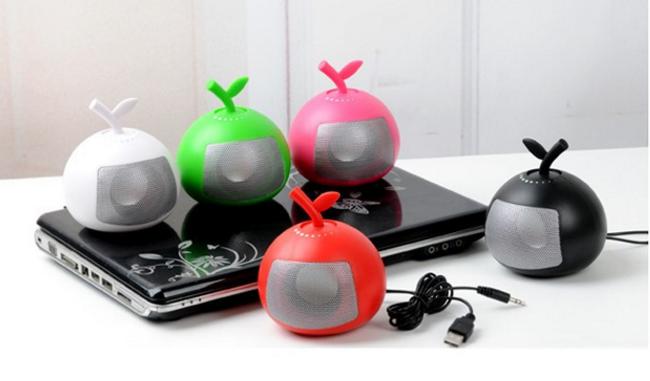 Fruit Bluetooth Speaker Portable Mini Card Support FM Radio Hands Free 7
