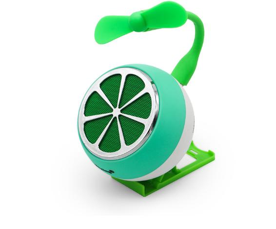 Fruit Bluetooth Speaker Portable Mini Card Support FM Radio Hands Free 9