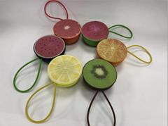Fruit Bluetooth Speaker Portable Mini Card Support FM Radio Hands Free